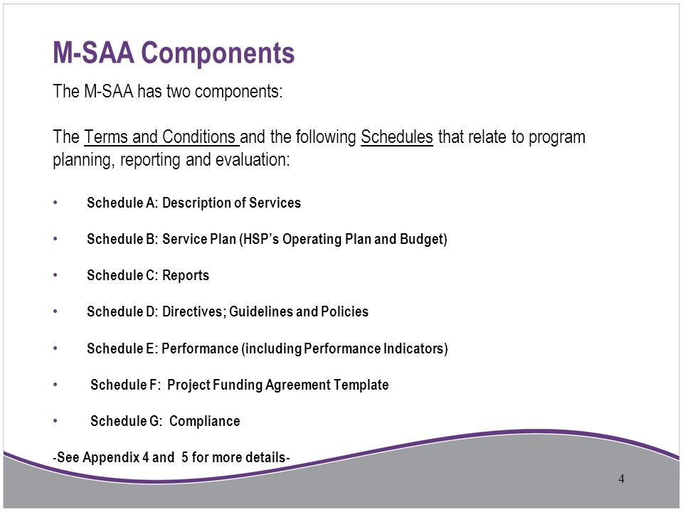 M-SAA Components The M-SAA has two components: