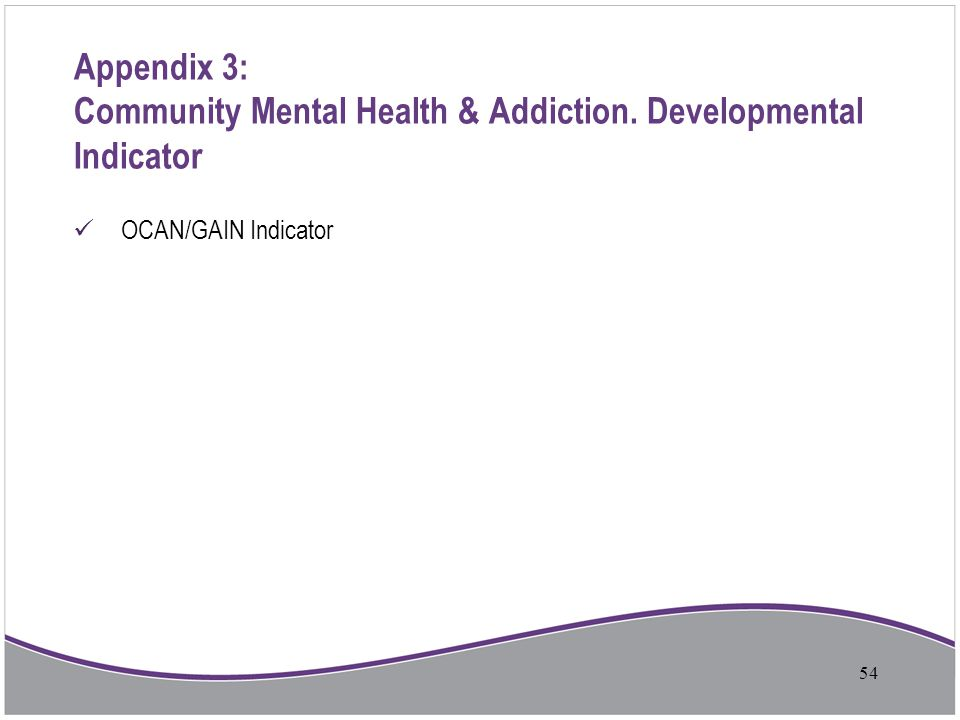Appendix 3: Community Mental Health & Addiction