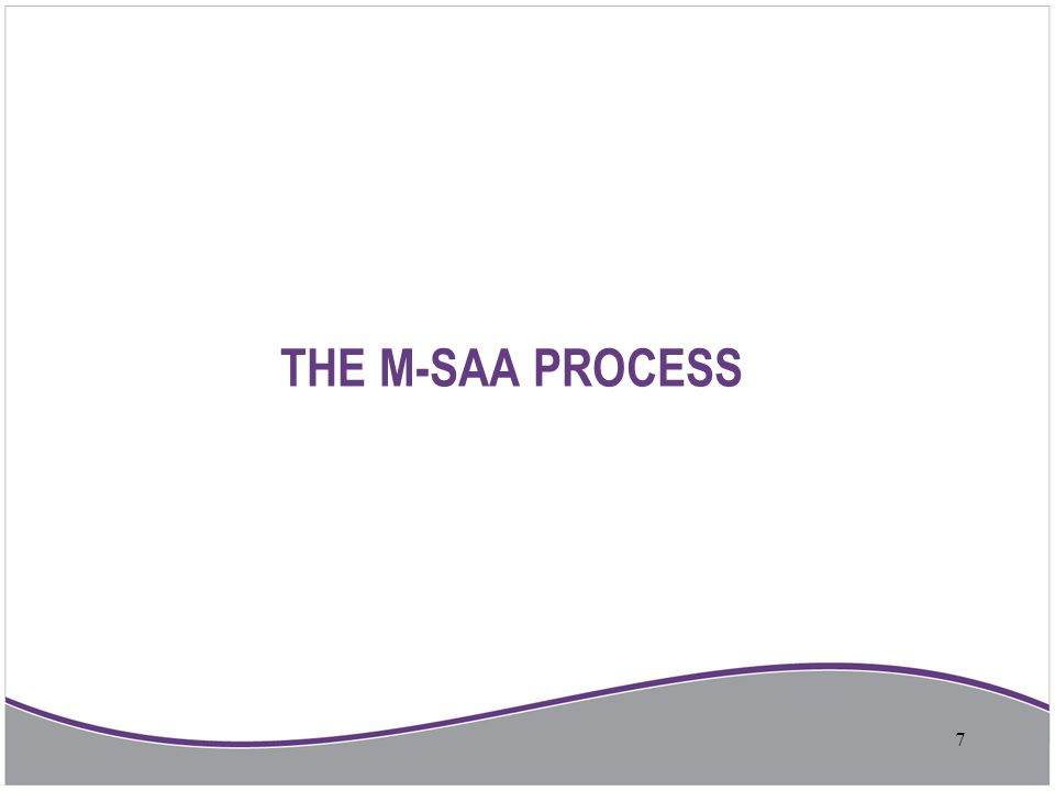 THE M-SAA PROCESS