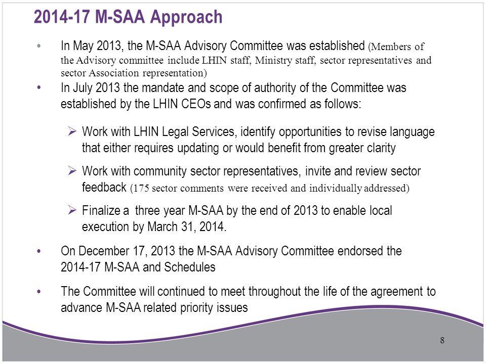 2014-17 M-SAA Approach