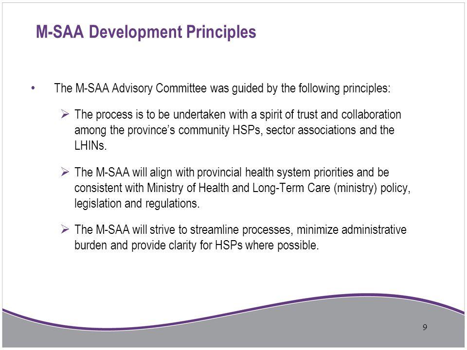 M-SAA Development Principles