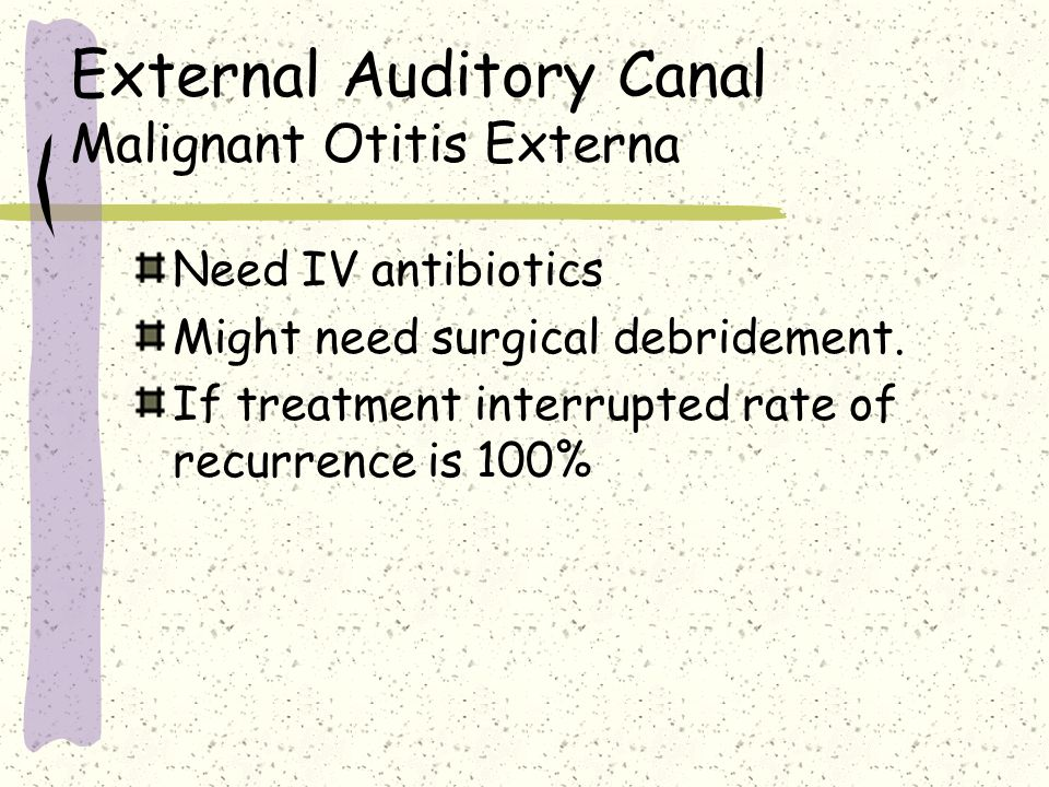 External Auditory Canal Malignant Otitis Externa