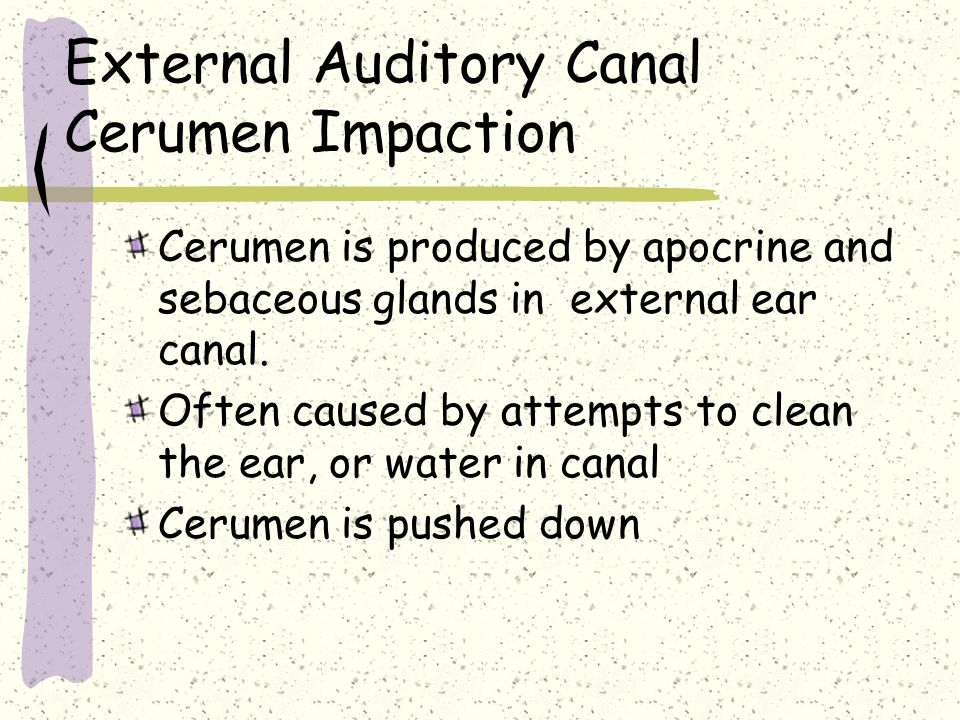 External Auditory Canal Cerumen Impaction