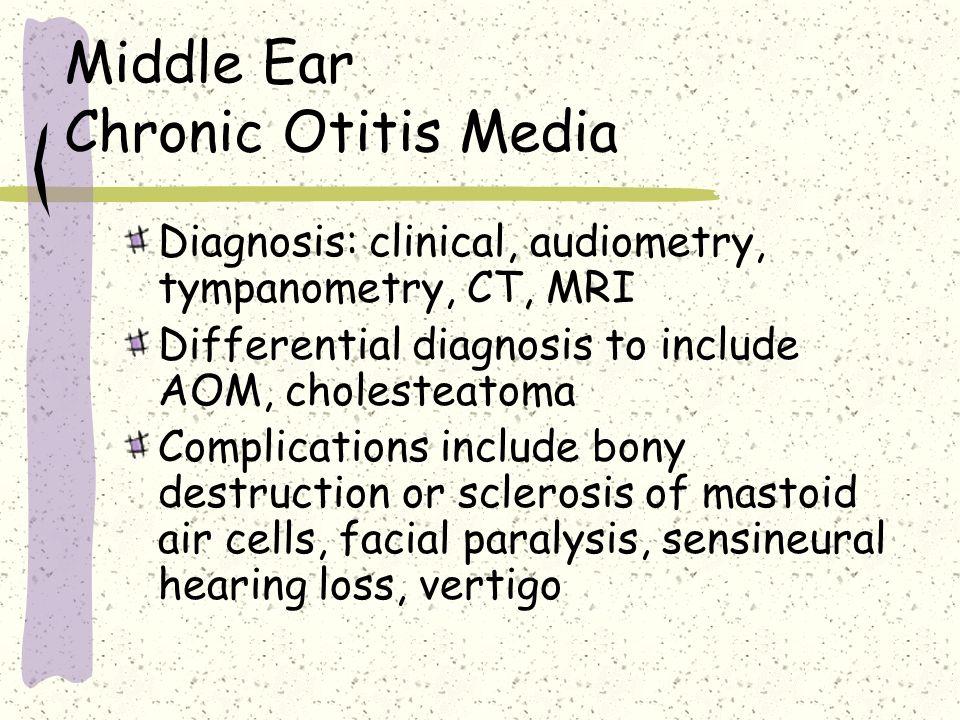 Middle Ear Chronic Otitis Media