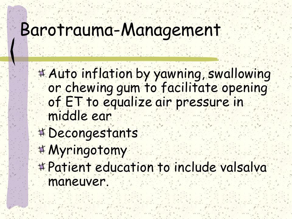 Barotrauma-Management