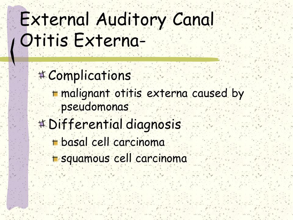 External Auditory Canal Otitis Externa-