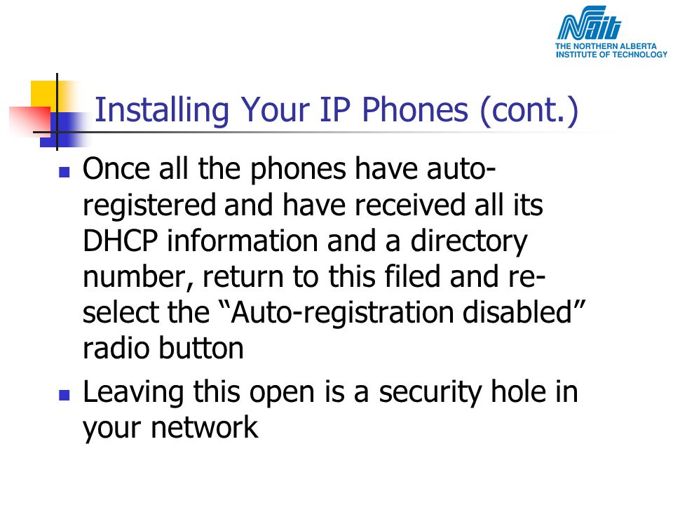 Installing Your IP Phones (cont.)