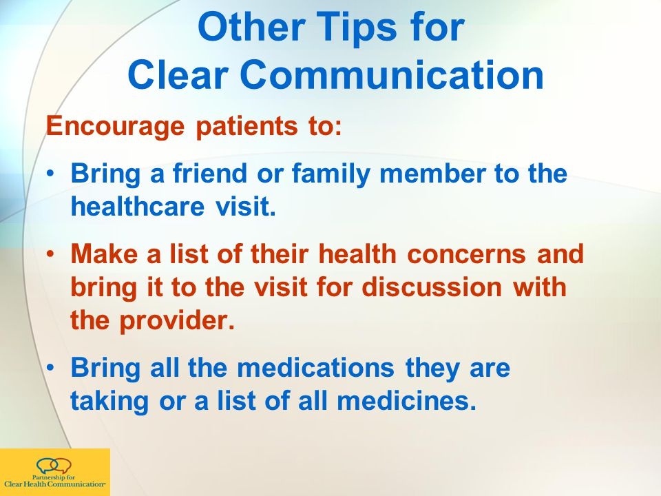Other Tips for Clear Communication