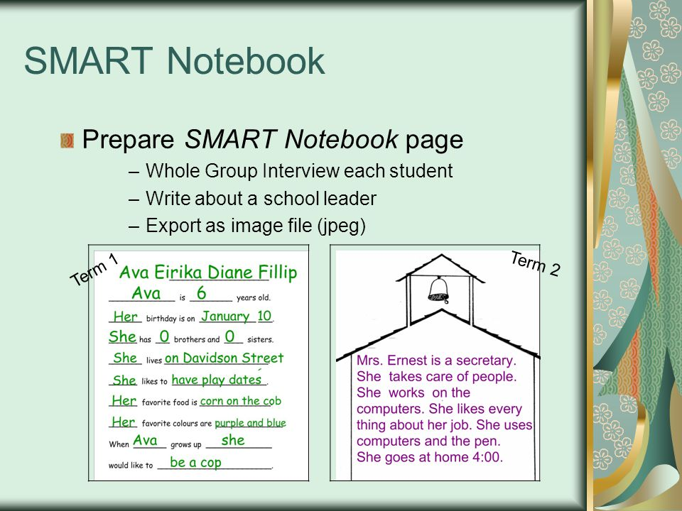 SMART Notebook Prepare SMART Notebook page