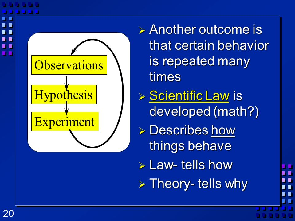 Another outcome is that certain behavior is repeated many times