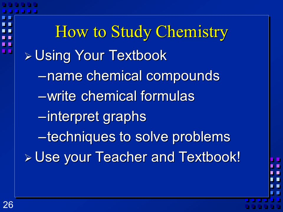 How to Study Chemistry Using Your Textbook name chemical compounds