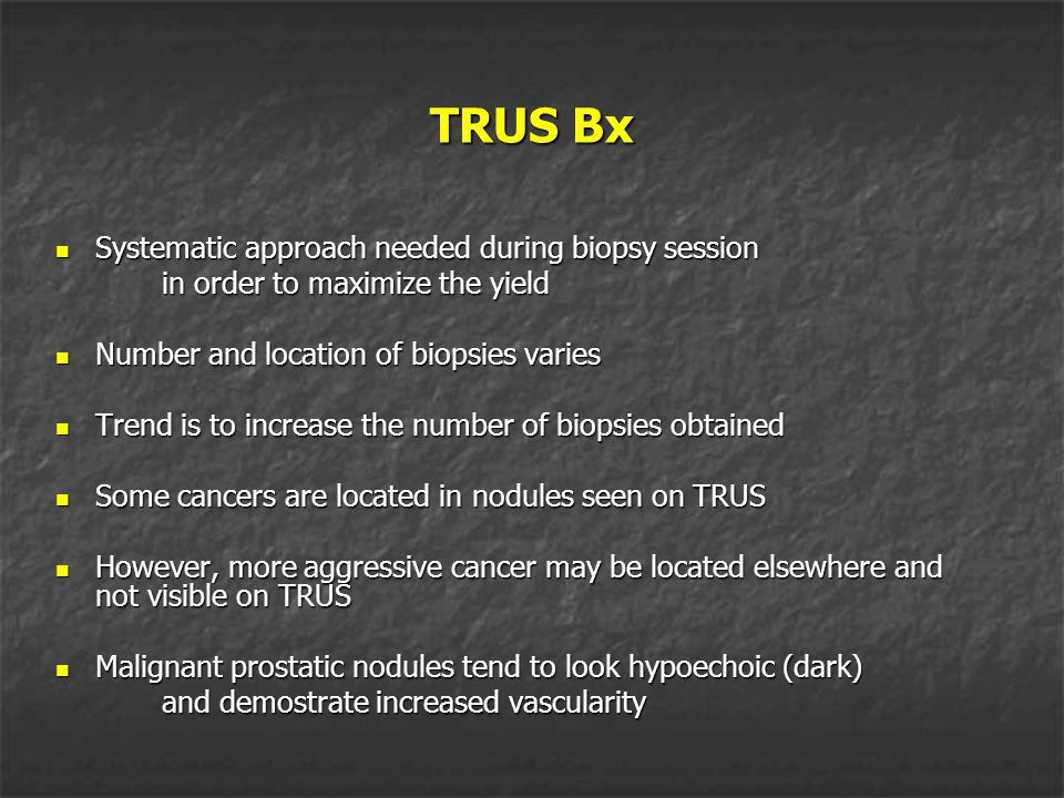 TRUS Bx Systematic approach needed during biopsy session