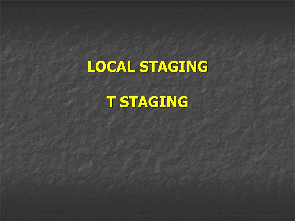 LOCAL STAGING T STAGING