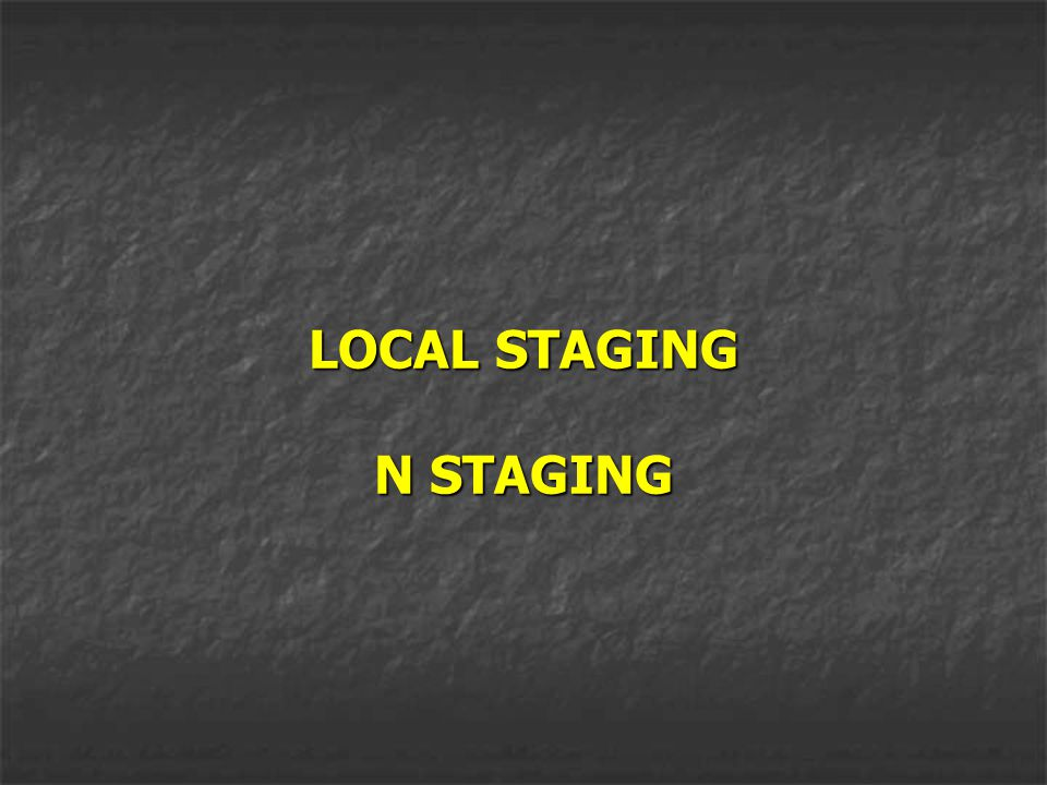 LOCAL STAGING N STAGING