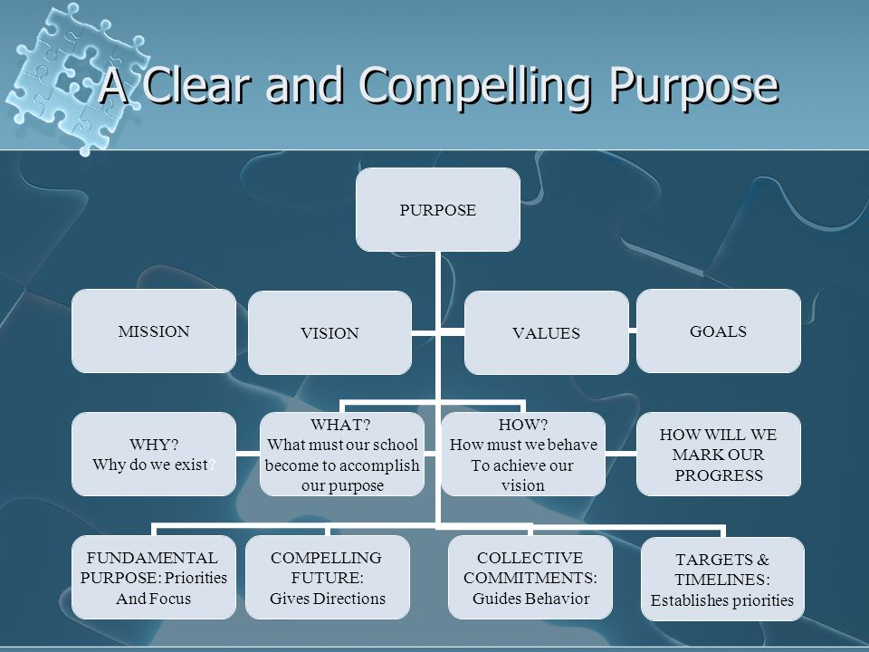 A Clear and Compelling Purpose