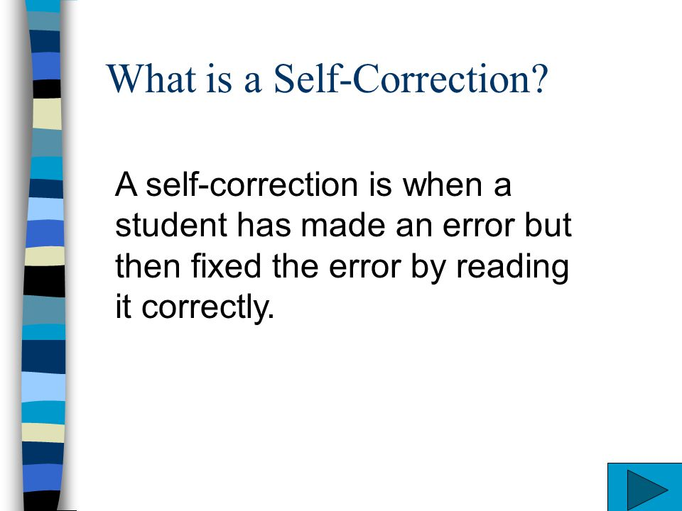 What is a Self-Correction