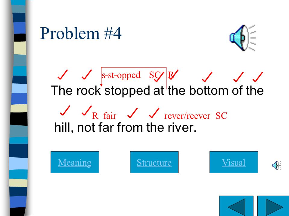 Problem #4 The rock stopped at the bottom of the