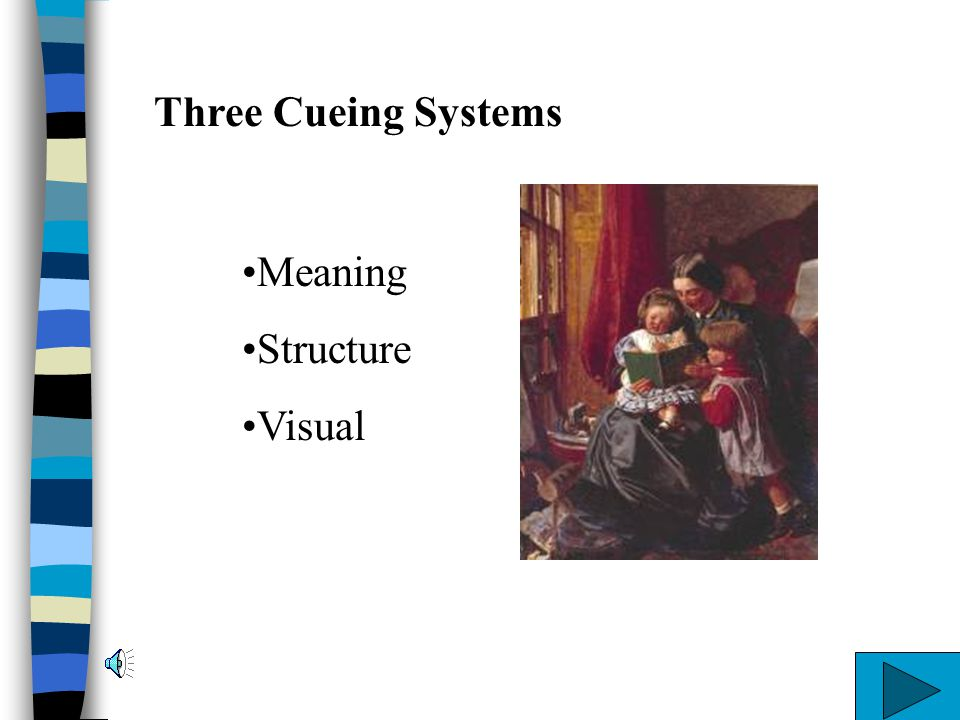 Three Cueing Systems Meaning Structure Visual