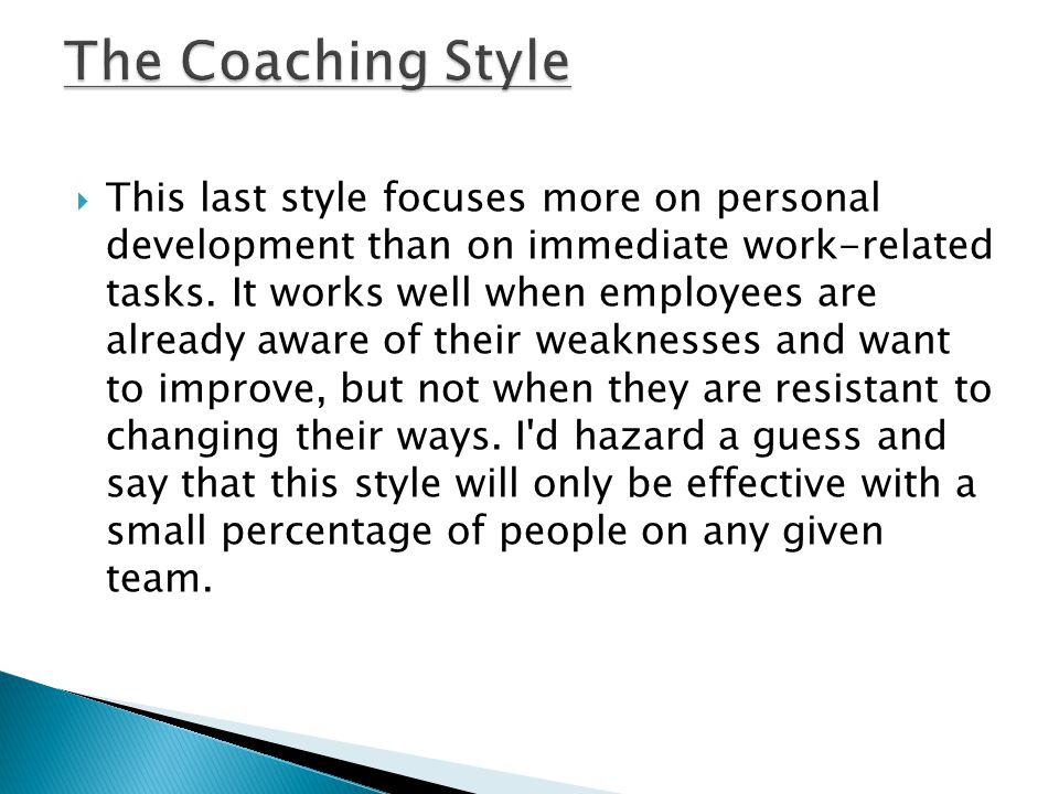 The Coaching Style