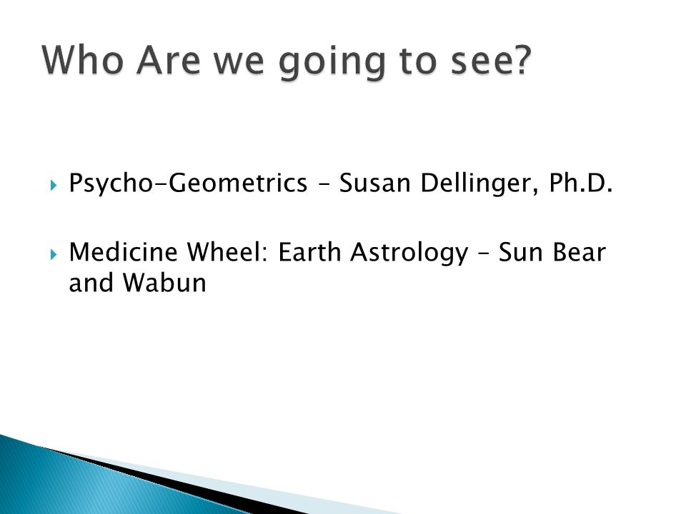 Who Are we going to see Psycho-Geometrics – Susan Dellinger, Ph.D.