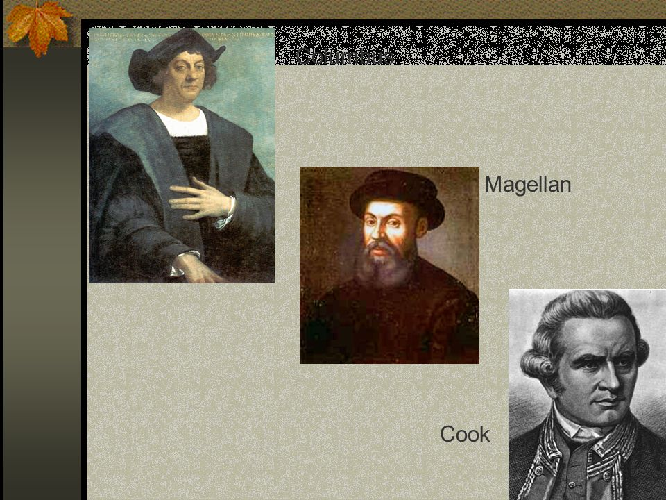 Columbus Magellan Cook