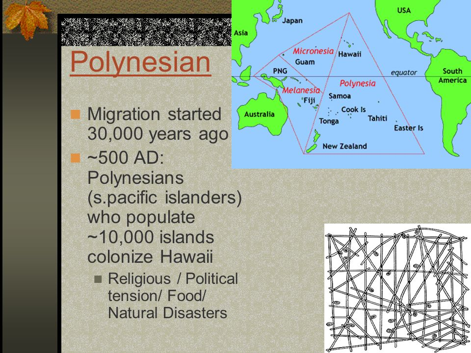 Polynesian Migration started 30,000 years ago