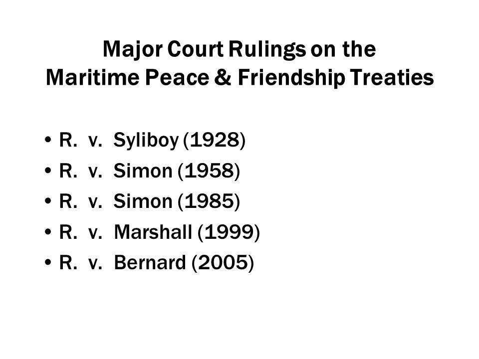 Major Court Rulings on the Maritime Peace & Friendship Treaties