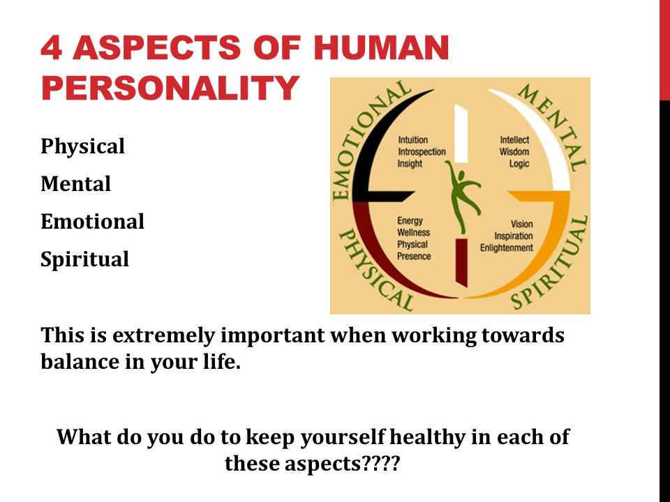 4 Aspects of Human Personality