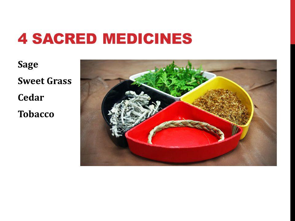 4 Sacred Medicines Sage Sweet Grass Cedar Tobacco