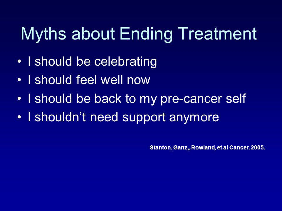 Myths about Ending Treatment