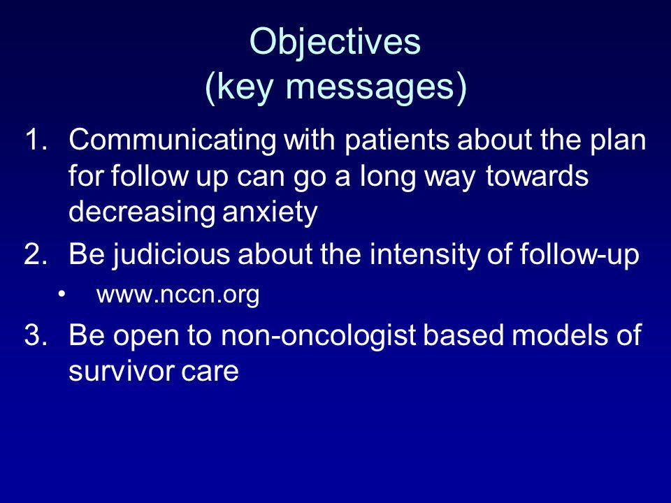 Objectives (key messages)
