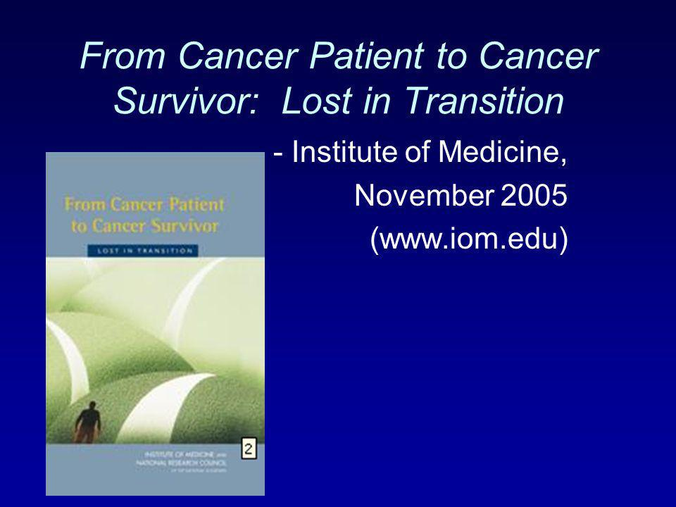 From Cancer Patient to Cancer Survivor: Lost in Transition
