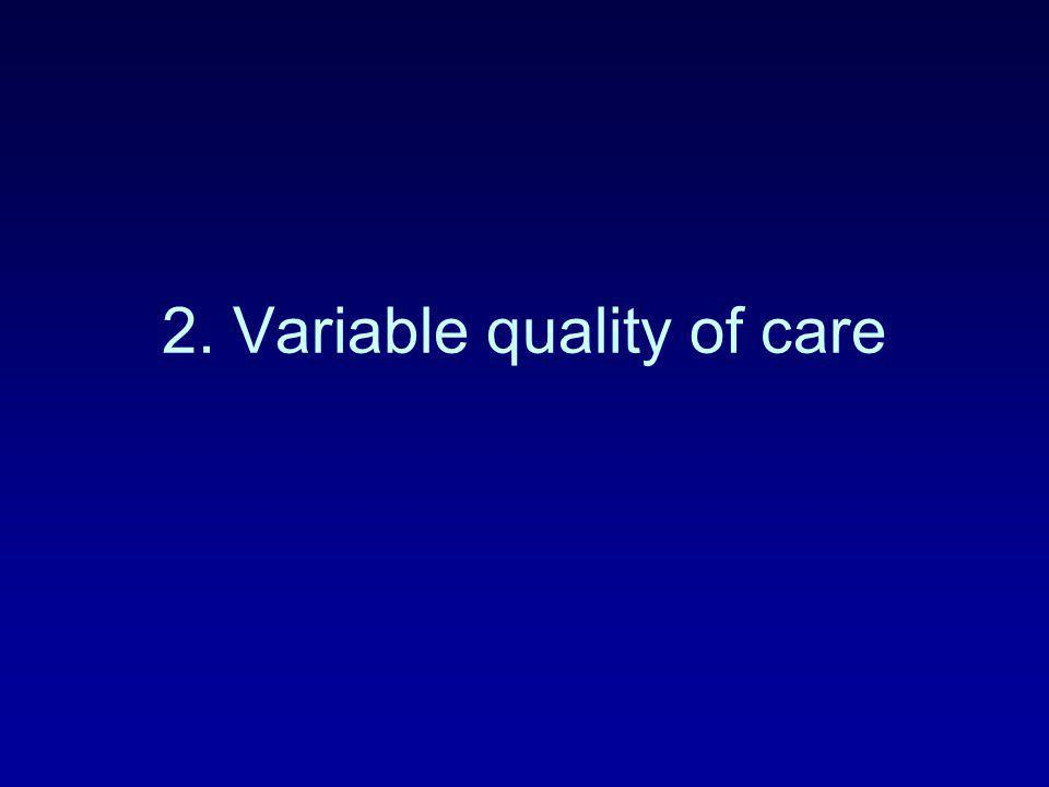 2. Variable quality of care