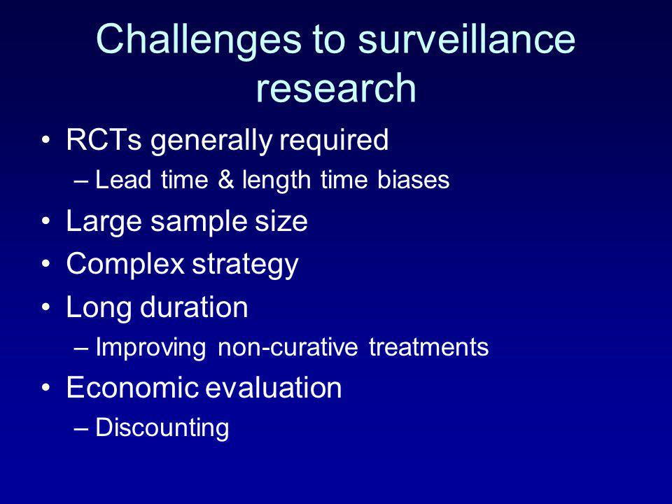 Challenges to surveillance research