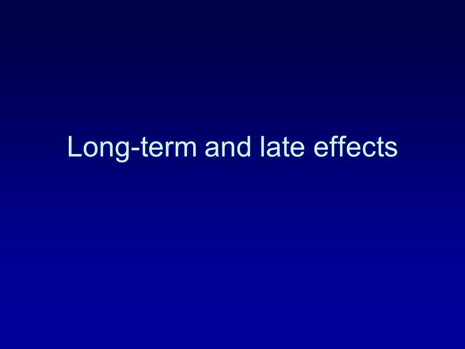 Long-term and late effects