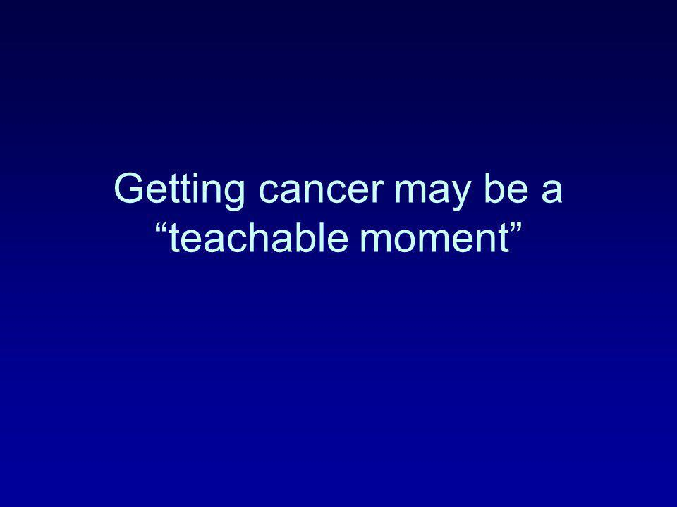 Getting cancer may be a teachable moment