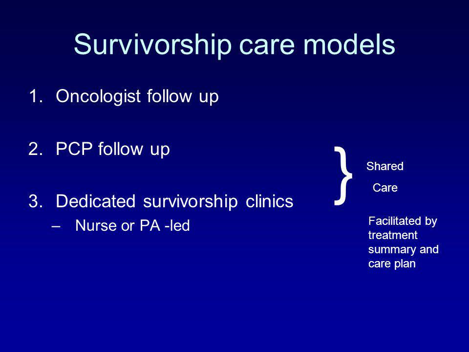 Survivorship care models