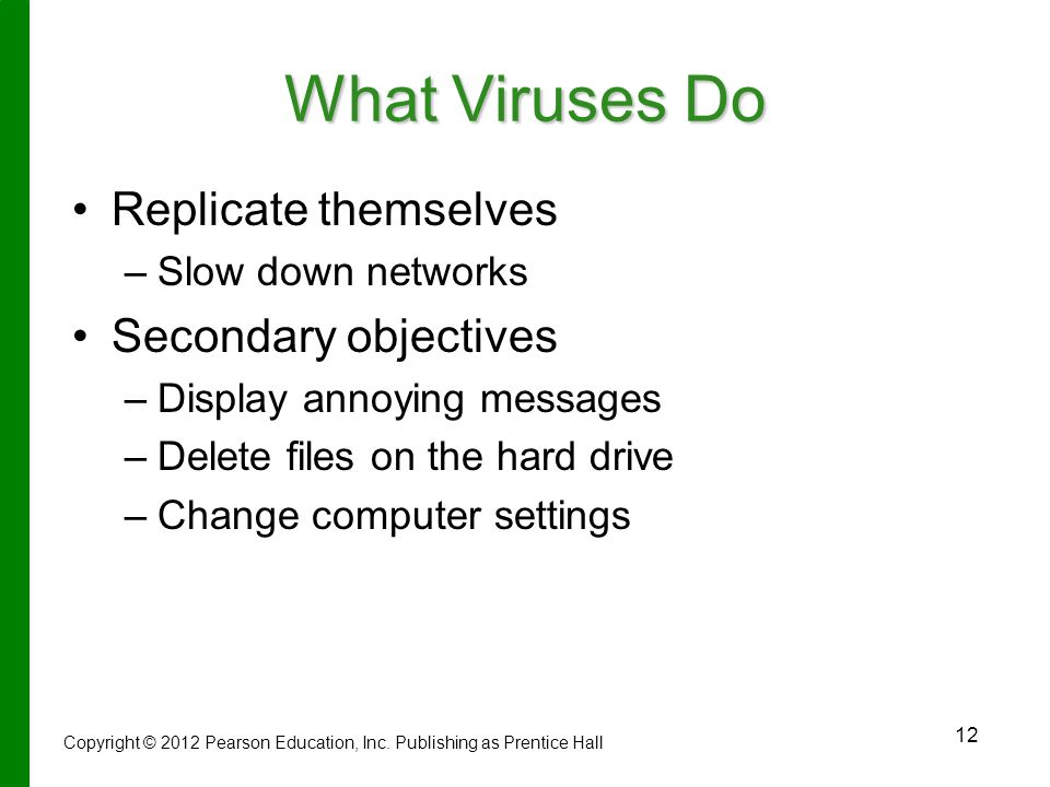 What Viruses Do Replicate themselves Secondary objectives