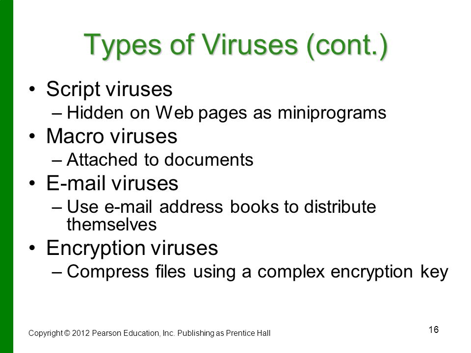 Types of Viruses (cont.)