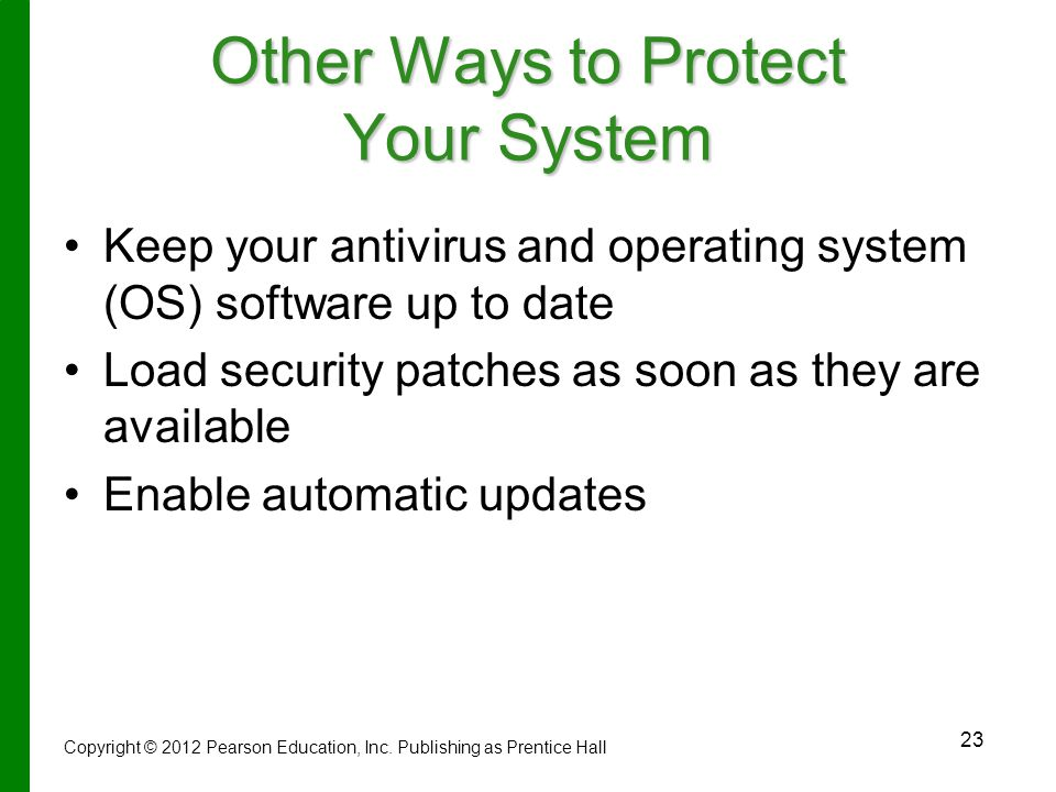 Other Ways to Protect Your System