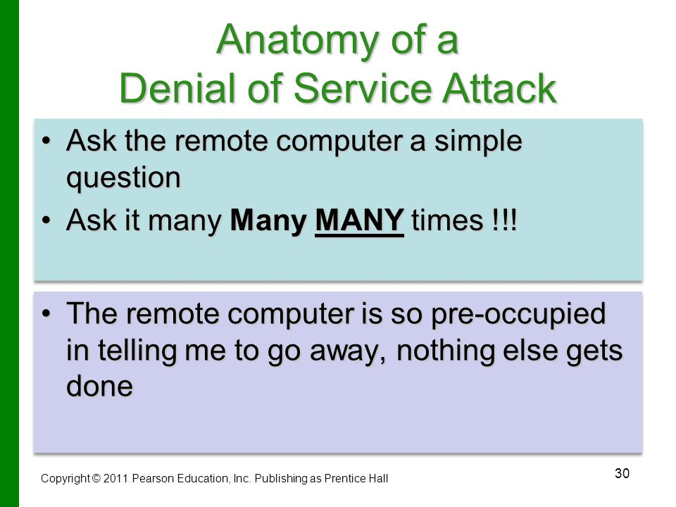 Anatomy of a Denial of Service Attack