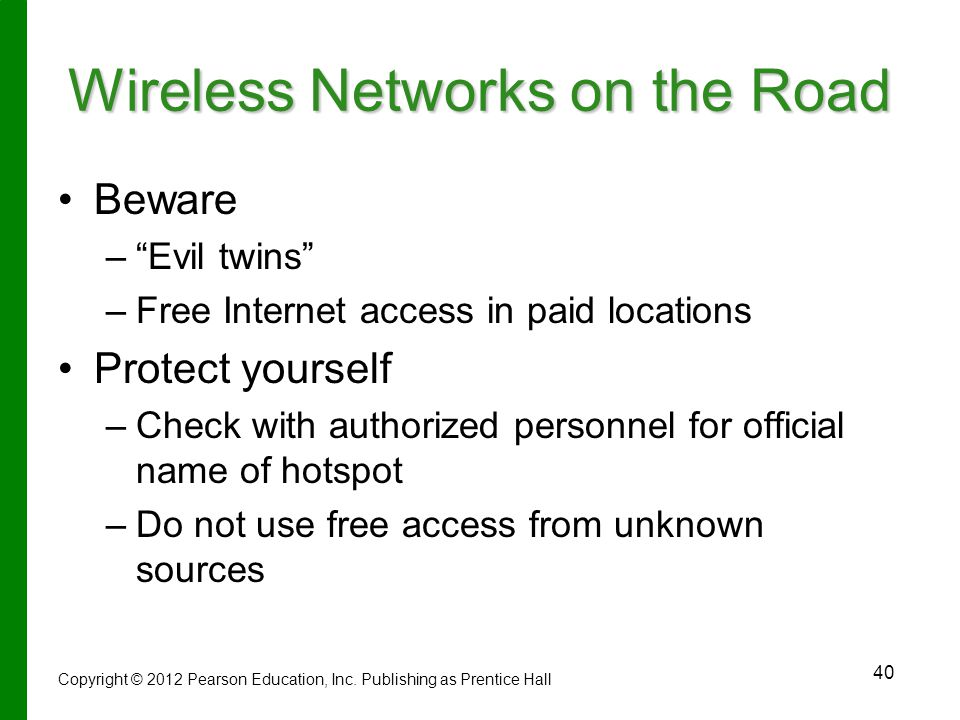 Wireless Networks on the Road