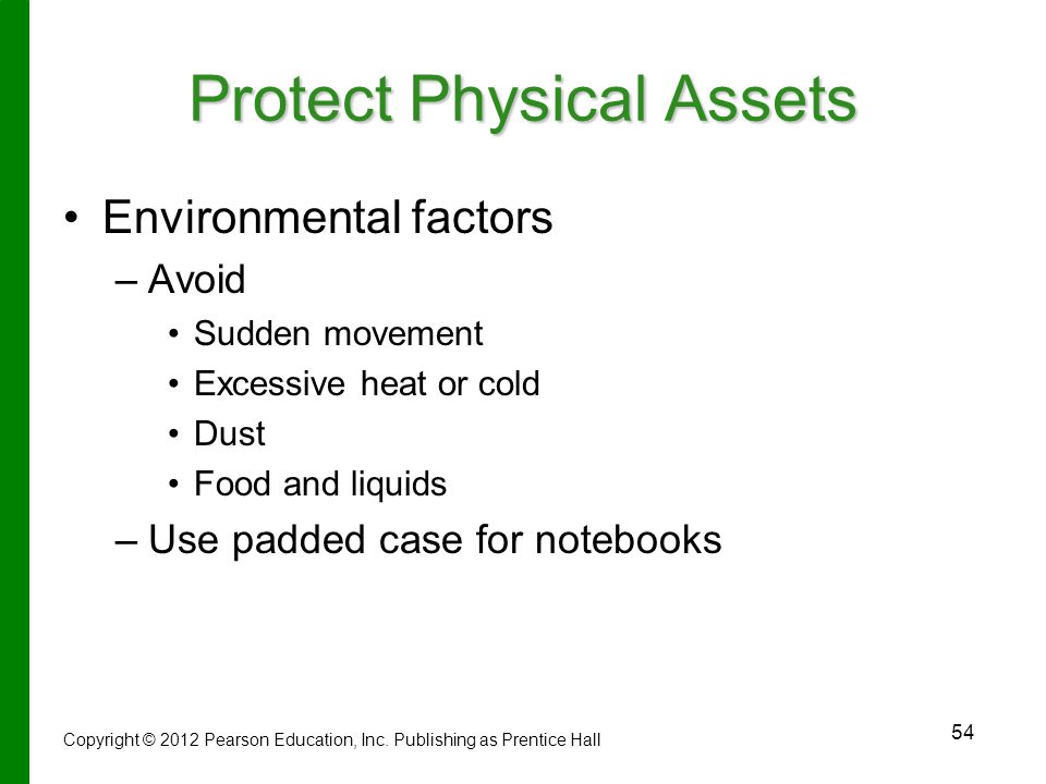 Protect Physical Assets