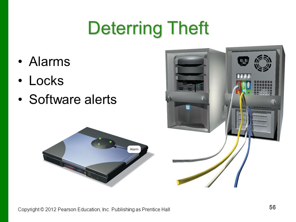 Deterring Theft Alarms Locks Software alerts