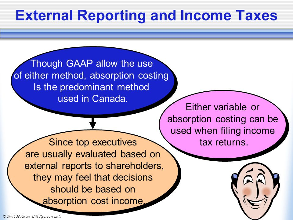External Reporting and Income Taxes