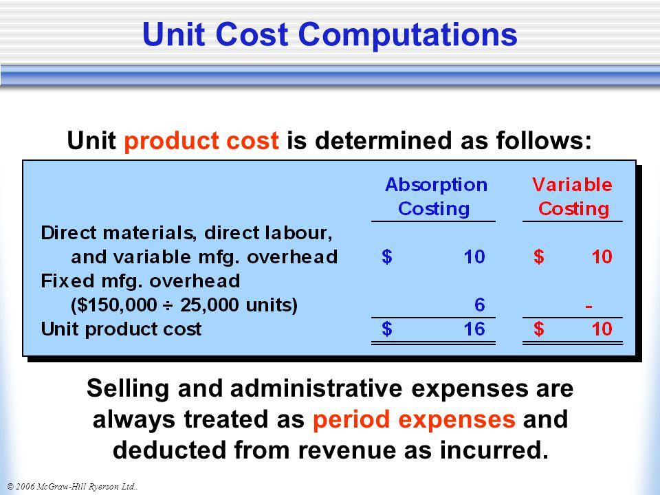 Unit Cost Computations
