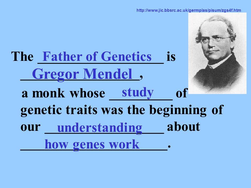 Gregor Mendel The __________________ is _________________,