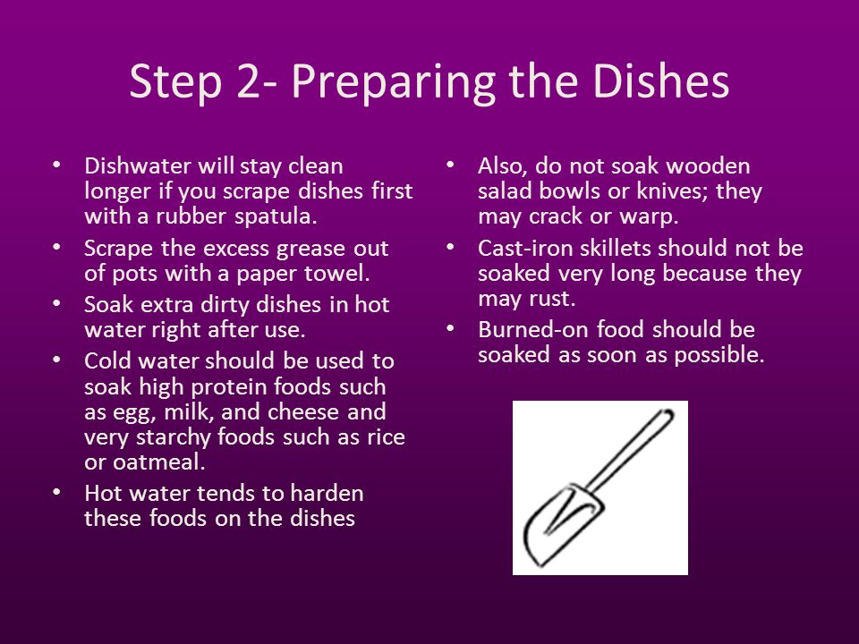 Step 2- Preparing the Dishes