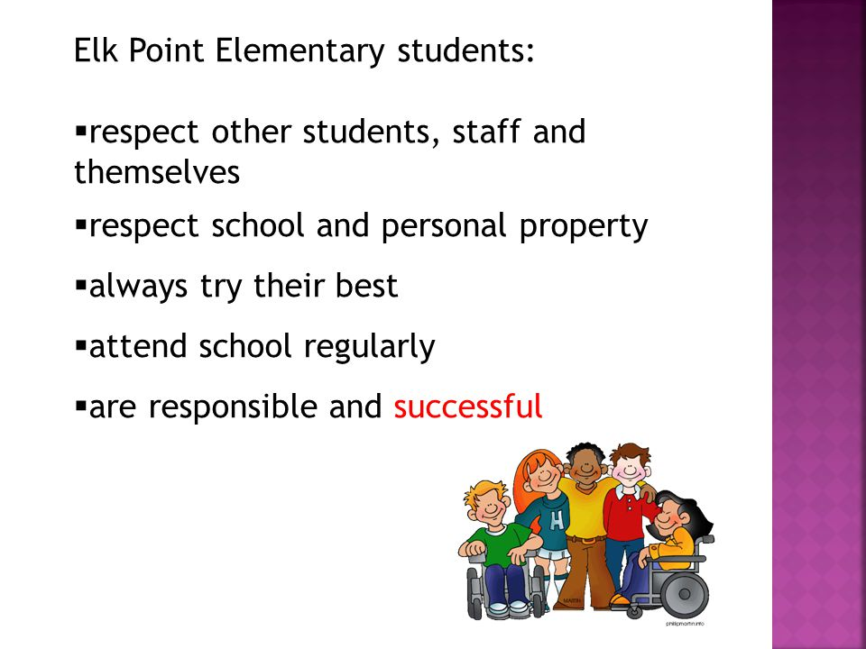 Elk Point Elementary students: