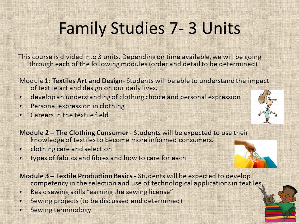 Family Studies 7- 3 Units